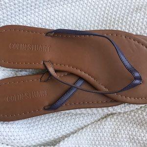 Colin Stuart leather strap sandal
